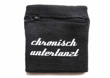 Sweatband Wristband Wrist Warmer Zipper Pull Purse Chronisch Untertanzt German Glack  – Bild 2
