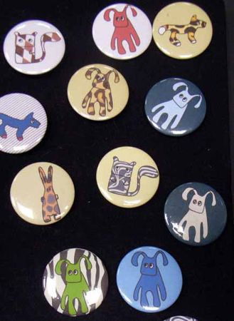 10X Kalle Fux Buttons Button Button Children Child Animal Dog Cat Rabbit – Bild 1