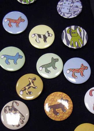 10X Kalle Fux Buttons Button Button Children Child Animal Dog Cat Rabbit – Bild 2