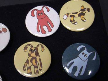 10X Kalle Fux Buttons Button Button Children Child Animal Dog Cat Rabbit – Bild 4