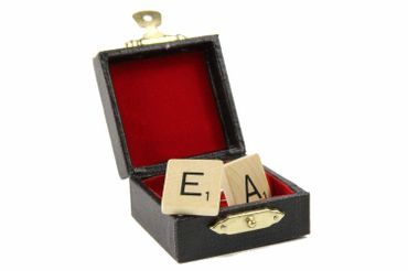 Scrabble Request Letter Customized Initial Cuff Links Cufflinks ABC Initials Miniblings M +? – Bild 1