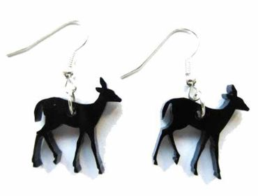 Deer Bambi Earrings Miniblings Fawn Deer Christmas Acrylic Thin – Bild 1