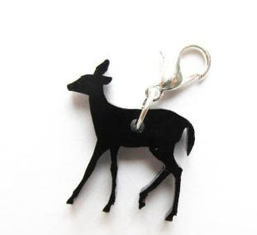 Deer Bambi Charm For Bracelet Wristlet Dangle Miniblings Fawn Deer Acrylic Thin – Bild 1