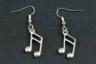 Notes Double Note Semiquaver Sixteenth Earrings 16Th Note Miniblings Music Silver – Bild 4