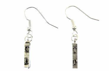 Schlagbuchstaben Ohrringe Schreibmaschine Initialen Miniblings AUSWAHL ABC Q + ? – Bild 1