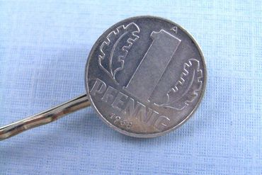 1 Pfennig German Germany GDR East Germany DDR Set Of 2 Hair Clip Hair Pin Clips Pins Hairpins Miniblings Coins Nostalgia New – Bild 5