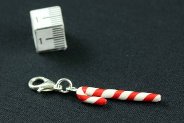 Candy Cane Charm Miniblings Candy Lollipops Christmas Cawaii Candy Red – Bild 3
