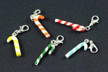 Candy Cane Charm Miniblings Candy Lollipops Christmas Cawaii Candy Grün – Bild 4