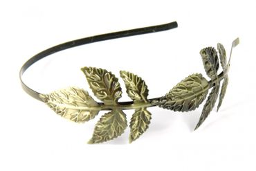 Circlet 2 Leaf Hair Circlet Romance Miniblings Hair Blade Bronze Two Leaves