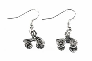 Quad Earrings Terrain Vehicle Miniblings Motorcross Offroad Car Silver Car – Bild 1