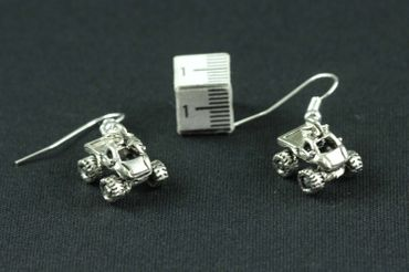 Quad Earrings Terrain Vehicle Miniblings Motorcross Offroad Car Silver Car – Bild 2