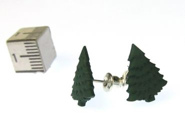 Christmas Tree Earrings Ear Studs Earstuds Miniblings Fir Christmas Green Tree – Bild 3