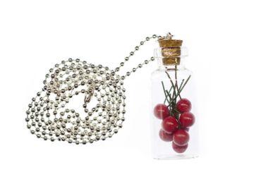 Cherries In Glass Necklace Miniblings 80cm Jam Storage Jar Bottle – Bild 3