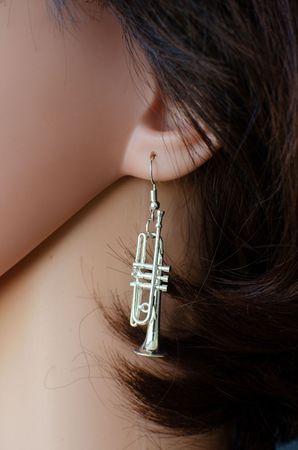 Trumpet Earrings Trumpet Miniblings Brass Bands Silver Plated + Box – Bild 5