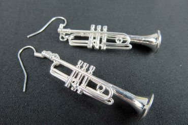 Trumpet Earrings Trumpet Miniblings Brass Bands Silver Plated + Box – Bild 4