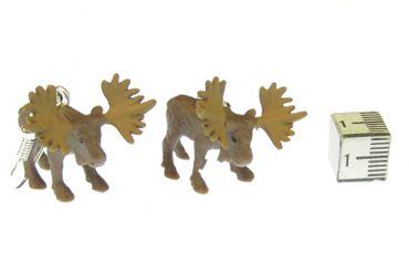 Elch Ohrringe Elchohrringe Miniblings Ren Gnu Schweden Elche Weihnachten Gummi – Bild 2