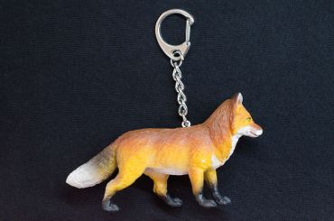 Fox Key Chain Key Ring Miniblings Red Fox Forest Pendant Rubber 85mm Brown – Bild 2