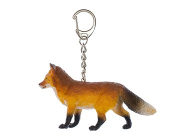 Fox Key Chain Key Ring Miniblings Red Fox Forest Pendant Rubber 85mm Brown – Bild 1