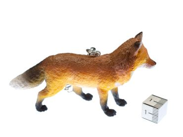 Fox Key NecklaceKey Ring Miniblings Red Fox Forest Pendant Rubber 85mm Brown – Bild 4