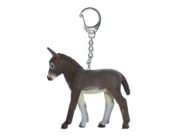 Esel Schlüsselanhänger Miniblings Anhänger Maultier Muli Eselchen 70mm braun – Bild 1