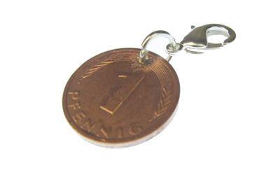 1 Penny Coin Charm For Bracelet Wristlet Pendant Miniblings BRD Lucky Penny Luck Money – Bild 1