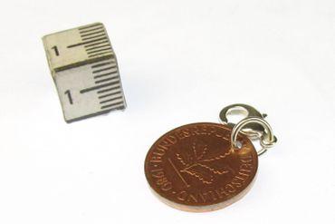 1 Pfennig Münze Charm Bettelanhänger Anhänger Miniblings BRD Glückspfennig Glück – Bild 2