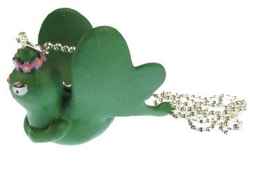 Barbapapa Schmetterling Kette Halskette Miniblings 80cm Barbamama Insekt grün – Bild 2