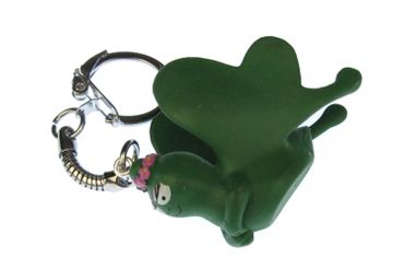 Barbapapa Barbalala Butterfly Key NecklaceKey Ring Miniblings Insect Green Flight – Bild 1