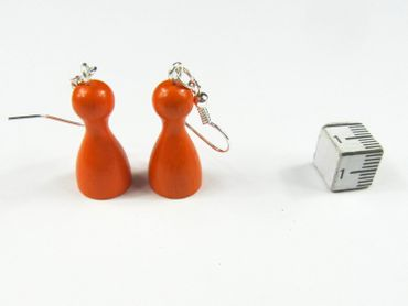Playing Piece Game Character Earrings Miniblings Board Game Ludo Orange – Bild 4