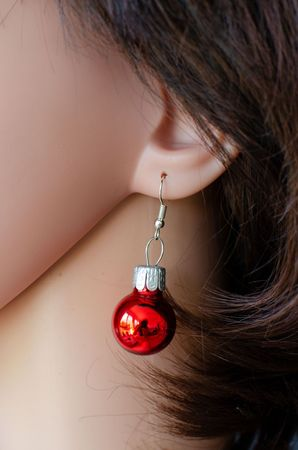 Glitter Ball Earrings Miniblings Glitter Balls Red Gloss – Bild 3