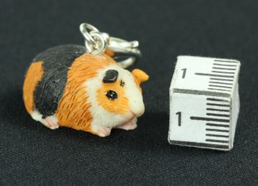 Meerschweinchen Guinea Pig Charm Zipper Pull Anhänger Bettelanhänger Miniblings – Bild 5