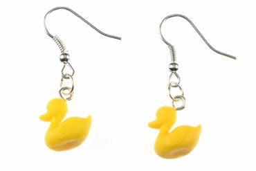 Squeaking Duck Earrings Bath Duck Miniblings Rubber Duck  – Bild 1