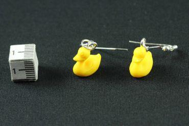 Quietscheente Ohrringe Ente Badeente Miniblings Gummiente Entchen Bad Kunststoff – Bild 3