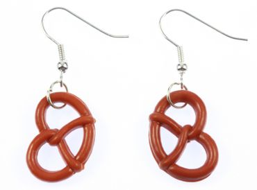 Pretzel Earrings Miniblings Oktoberfest Pretzel Brown – Bild 2