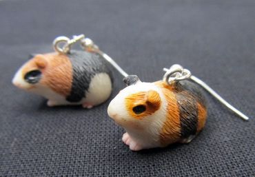 Guinea Pig Earrings Miniblings Guninea Pig Pet – Bild 1