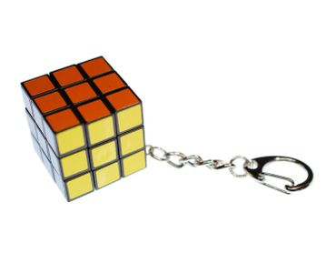 Rubik'S Dice Cube Key Ring Miniblings Pendant 80S Game Dice Cube Retro  – Bild 1