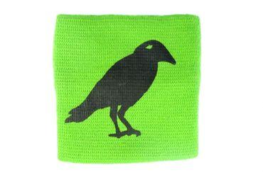 Sweatband Wristband Wrist Warmer With Zipper Pull Purse Miniblings Raven Bird Green – Bild 1