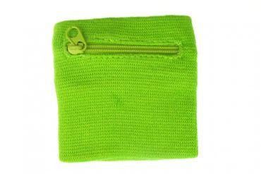 Sweatband Wristband Wrist Warmer With Zipper Pull Purse Miniblings Raven Bird Green – Bild 3