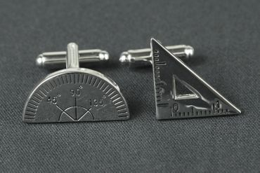 Mathematics Set Square Cuff Links Cufflinks Miniblings + Box Geometry Ruler – Bild 2