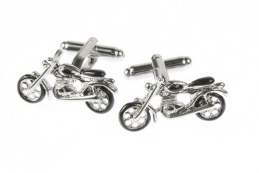 Motorcycle Cuff Links Cufflinks Miniblings Buttons + Box Bike Bikers Motorcycle Tourer – Bild 1