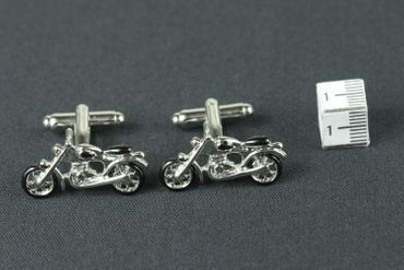Motorcycle Cuff Links Cufflinks Miniblings Buttons + Box Bike Bikers Motorcycle Tourer – Bild 5