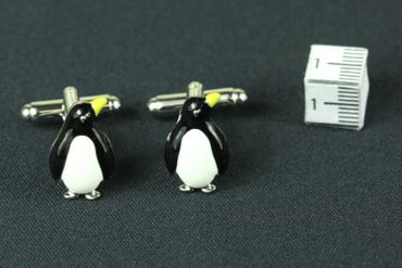 Penguin Cuff Links Cufflinks Miniblings Buttons With Box Antarctic Ice Penguins Enamel – Bild 3