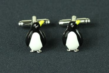 Penguin Cuff Links Cufflinks Miniblings Buttons With Box Antarctic Ice Penguins Enamel – Bild 2