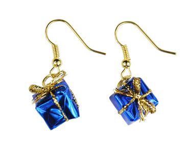 Geschenk Ohrringe Miniblings Geschenke Weihnachten Päckchen Bescherung blau – Bild 1