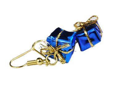 Geschenk Ohrringe Miniblings Geschenke Weihnachten Päckchen Bescherung blau – Bild 4