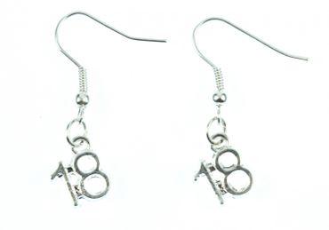 Eighteen Earrings 18 Number Of Age Birthday Miniblings Silver – Bild 2