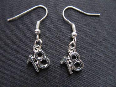 Eighteen Earrings 18 Number Of Age Birthday Miniblings Silver – Bild 1