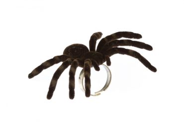 Spider Ring Large Tarantula Ring Miniblings Halloween animal horror pet XL – Bild 1