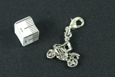 Motorcyclist Charm Silver Biker For Charm For Bracelet Wristlet Dangle Bike motorbike Miniblings – Bild 2