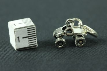Quad Charm cross-country all terrain Vehicle Miniblings Motorcross Offroad Car truck Silver Car – Bild 3